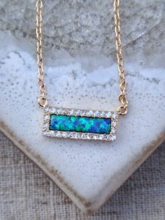 Synthetic Fire Opal and Cubic Zirconia CZ Vermeil by ByGennaLou