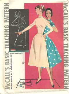 Vintage 50s Sewing McCalls Basic Teaching by studioGpatterns