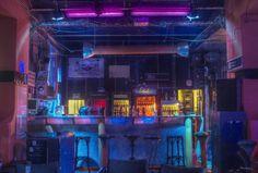 sci-fi cyberpunk bar