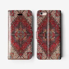 Persian iPhone 6s leather wallet case iPhone 6 folio by Agathecase
