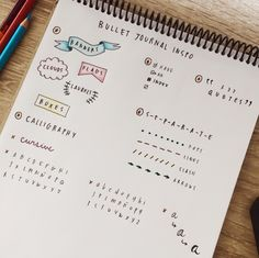"""studybreh: """" Getting ready for my first year of uni means attempting to make my first bullet journal, and to do so I've made an inspiration page with everything I wanted to include. I used planners in..."""