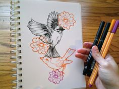 Birds + Flowers by Virginia Poltrack