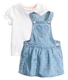 Bib Overall Dress and Top | Light denim blue | Kids | H&M US