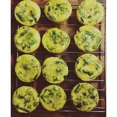 Breakfast meal prep! Egg muffins with asparagus, kale, zucchini, and almond milk. #yummy #healthy #