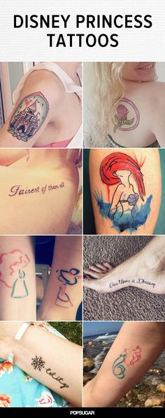 These 30 Disney Princess Tattoos Are the Fairest of Them All
