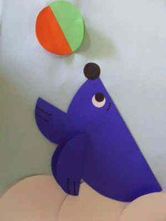 Animales con papeles de colores doblados » Proyectos y trabajos escolares