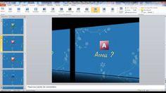 Tutoriel vidéo en 4 parties pour apprendre à créer un diaporama PowerPoint. Comment créer une transition PowerPoint pour débutant ? Créer une transition.  Pour lire ce tutoriel en version texte, rendez-vous sur Votre Assistante : http://www.votreassistante.net/creer-son-premier-diaporama-powerpoint-creer-des-transitions-entre-les-diapositives