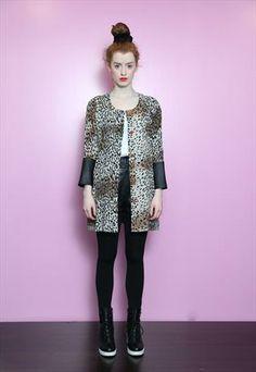 Vintage 1980's Reworked Leopard Print Oversized Shirt