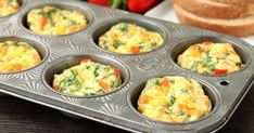 These Breakfast Egg Cups are the perfect breakfast on-the-go. Make them ahead of time, refrigerate or freeze them, and then heat them in the microwave when you are ready to eat! Breakfast Cupcakes, Breakfast Muffins, Breakfast Recipes, Protein Breakfast, Breakfast Ideas, Egg Muffins, Brunch Ideas, Kid Breakfast, Breakfast Dishes