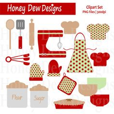 Instant Download - Clipart Package 109 - Christmas Baking Set