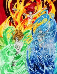 From CLAMP's Magic Knight Rayearth, the three girls from another world revive the final Rune-god, Rayearth, in their quest to save Cephiro. Revival of Rayearth Manga Anime, Anime Art, Chise Hatori, Pretty Movie, Magic Knight Rayearth, Arte Sailor Moon, Cool Animations, Manga Pictures, Animes Wallpapers