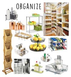"""""""Organize Your Kitchen"""" by gayle-storm ❤ liked on Polyvore featuring interior, interiors, interior design, home, home decor, interior decorating, Improvements, Old Dutch, Organize It All and Home Decorators Collection"""