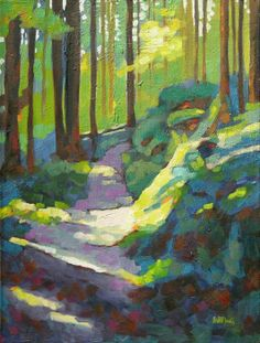 Mary McInnis - Light Across the Trail Illustrations, Illustration Art, Guache, Painting & Drawing, Gouache Painting, Acrylic Paintings, Abstract Art, Abstract Portrait, Portrait Paintings