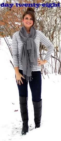 I have a ridiculous love affair with the colour gray... I want that scarf.