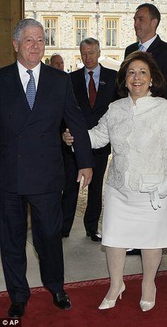 Crown Prince Alexander II of Yugoslavia and his wife, the Crown Princess Katarina