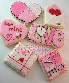 valentines day cookies dicas e decorao para o dia dos namorados acesse - Decorated Valentine Cookies
