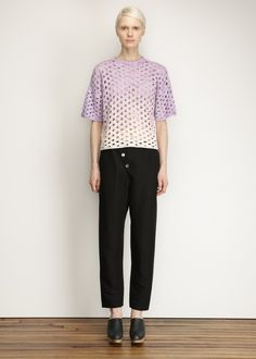Anntian Handknit T-shirt (Purple)