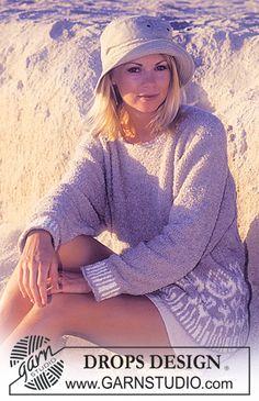 DROPS 61-6 - DROPS Sweater in Cotton Frisé. - Free pattern by DROPS Design