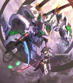 """Ninja robot and Samurai Girl Naoon Arte Gundam, Gundam Art, Robot Concept Art, Armor Concept, Character Concept, Character Art, Gundam Wallpapers, Arte Robot, Accel World"