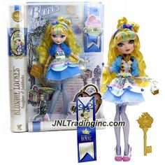 Product Features - Includes: Daughter of Goldilocks BLONDIE LOCKES with Purse, Bookmark and Hairbrush - Blondie Lockes doll measured approximately 11 inch tall - Produced in year 2014 - For age 6 and