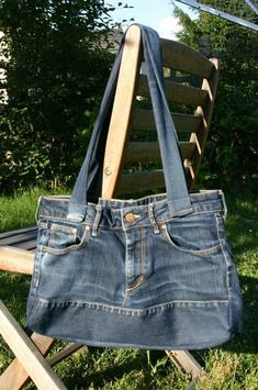 Tuto en français sac en jean 036