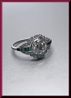 Antique Vintage Art Deco Platinum Diamond by AntiqueJewelryNyc, $8000.00