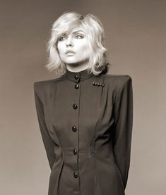 A collection of portraits  of Debbie Harry taken by acclaimed photographer   Brian Aris from 1977 to 1988 have gone on show at Proud Chelsea in London.   With her two-toned bleached-blonde hair, the front woman of new wave band   Blondie is the ultimate 70s icon. This collection at Proud Chelsea combines   several of Aris and Harry's portrait sittings from Blondie's heyday,   colourful shots taken in Debbie Harry's New York apartment and a selection   of Polaroids.