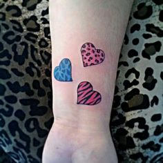 Hearts . Animal Print . Tattoo