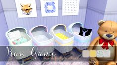 The Sims 4 | baby bed bassinet recolor non-default bg recolor buy mode nursery