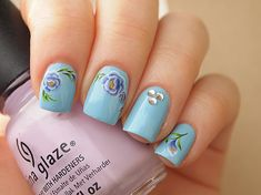 Beautiful purple peony nail water decals/ by LaPalomaBoutique