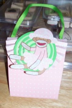 A purse card for Candy.  I used the retired SU set, Sock Monkey on the outside.