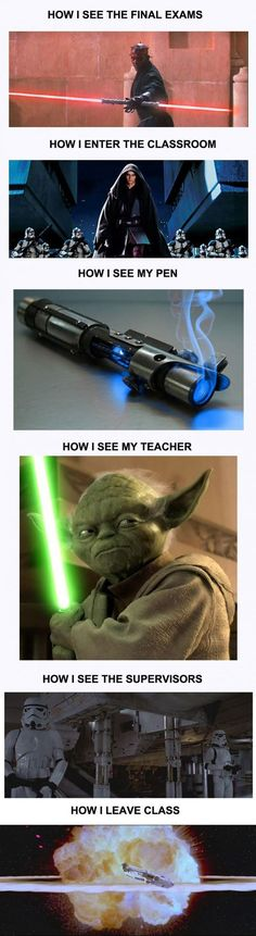 Major Spanish test tomorrow. this will be my mentality. May the force be with you.