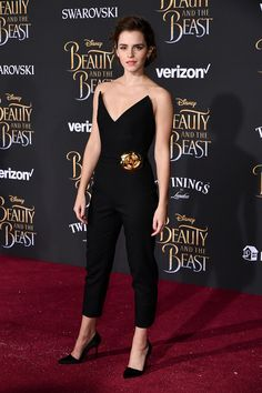All eyes on Emma Watson in #ODLRFall17 at the premiere of Beauty and the Beast in Los Angeles last night.