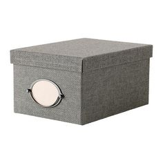 KVARNVIK Box with lid IKEA Suitable for storing your DVDs, games, chargers, remote controls or desk accessories.