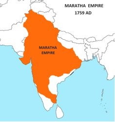 Maratha empire, 1759.