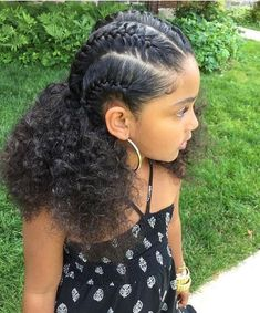 Back to school hairstyles black hair, natural hair, hairstyles for kids, school kids, curly hair styles #naturalhairstyleseasy #girlhairstylesforschoolkids