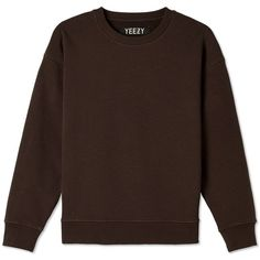 Yeezy Season 1 Women's Crew Sweat ($530) ❤ liked on Polyvore featuring tops, hoodies, sweatshirts, drop shoulder tops, crewneck sweatshirt, layered tops, crew neck tops and crew-neck tops