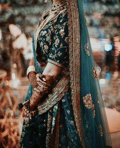 Image may contain: one or more people Indian Bridal Outfits, Indian Bridal Fashion, Indian Bridal Wear, Pakistani Wedding Dresses, Indian Designer Outfits, Indian Dresses, Indian Wedding Lehenga, Indian Lehenga, Pakistani Mehndi