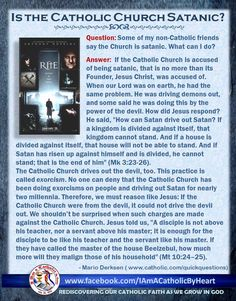 Yet, more evidence for the RCC being founded by Christ. Catholic Catechism, Catholic Theology, Catholic Religion, Catholic Quotes, Catholic Answers, Demonology, Eucharist, Religious Education, Lutheran