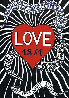 Cartões do amor de Yves Saint Laurent | Upost