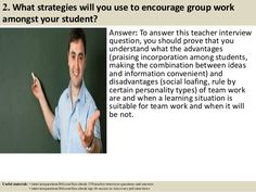 170 teacher interview questions and answers pdf | For the ...