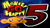 Monkey GO Happy 5 - The massively popular Monkey GO Happy game is back again and another Monkey joined the team! Solve puzzles, shoot stuff and more!