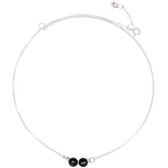 Two velvet black spinels adorn this simple but powerful gemstone necklace. The side-by-side stones look out of the ordinary. Gemstone Necklace, Pendant Necklace, Matching Rings, Black Spinel, Black Love, Silver Charms, The Ordinary, Garnet, Opal