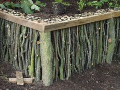 This instructable will show you how to make a natural looking raised garden using only small branches, a few thicker logs and some straight timber sections. This design was the product of clearing up a garden and not wanting to dump or burn the branches.  We needed to build a raised garden and had no money - so we threw a little ingenuity at the problem.