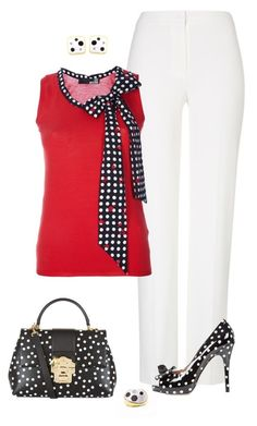 Sin título #1705 by marisol-menahem on Polyvore featuring moda, Love Moschino, ESCADA, RED Valentino and Dolce&Gabbana
