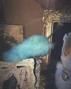 Blue Rainbow - Taxidermy Jewelry - Taxidermy Rabbit