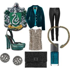 Slytherin, created by dracarys on Polyvore