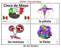 Cinco de Mayo Spanish 2 Booklets - One with text and images, the other with text only so students can sketch and create their own versions of the booklet.