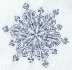 Intricate Snowflake E Embroidered Flour by EmbroideryEverywhere