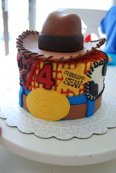 Look Natalia for Chris's B-Day - Toy Story Woody Cake Woody Birthday, Cowboy Birthday Party, Toy Story Birthday, Birthday Cakes, 2nd Birthday, Sweet Cakes, Cute Cakes, Woody Cake, Cowboy Cakes
